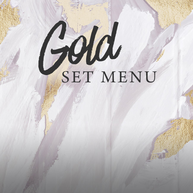 Gold set menu at The Kingfisher