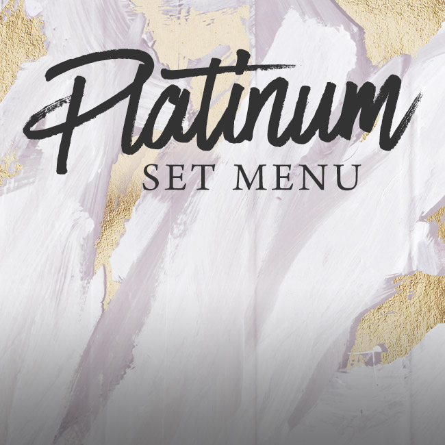 Platinum set menu at The Kingfisher