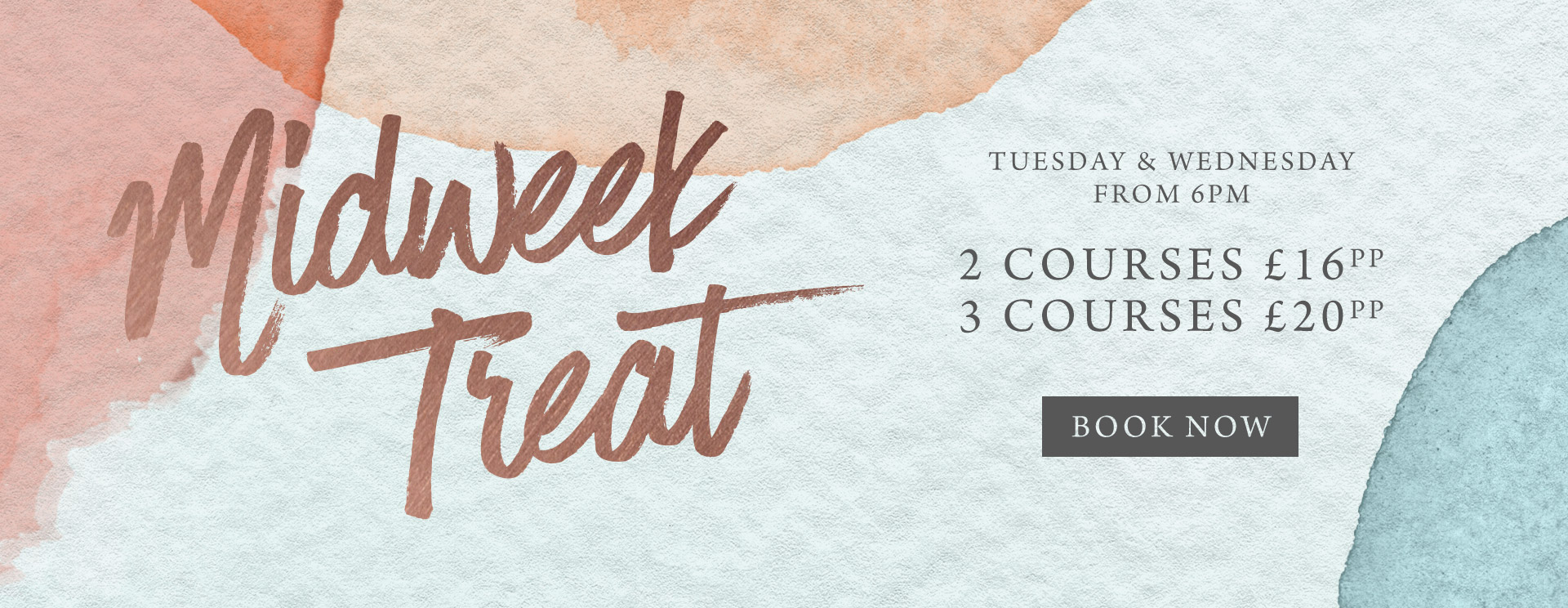 Midweek treat at The Kingfisher - Book now